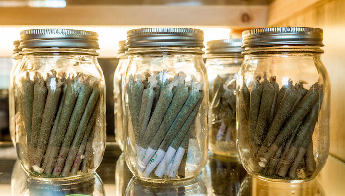 Dispensary Joints in Jars